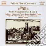 Pittfield Thomas - Concerto Per Pianoforte N.1, N.2  Studies On An English Dance-tune, ... cd musicale di Thomas Pittfield