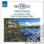 Sonata per violino n.1 op.15, n.2 op.94; cd musicale di William Mathias