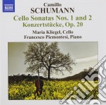 Sonata n.1, op.59, n.2 op.99; konzertstü cd musicale di Camillo Schumann
