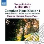 OPERE PER PIANOFORTE (INTEGRALE), VOL.1   cd musicale di GHEDINI GIORGIO FEDE