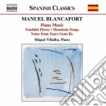 Complete piano music v.1 cd musicale di BLANCAFORT