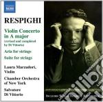Concerto per violino, aria per archi, su cd musicale di Ottorino Respighi