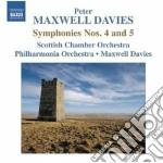 Sinfonia n.4, n.5 cd musicale di Maxwell davies peter