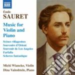 Brani per violino e pianoforte, souvenir cd musicale di Sauret +mile
