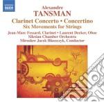 Tansman Aleksandre - Concerto Per Clarinetto  Concertino Per Oboe, Clarinetto E Archi, 6 Movimenti cd musicale di Aleksander Tansman