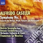 SINFONIA N.1, CONCERTO PER ARCHI, PIANOF  cd musicale di Alfredo Casella