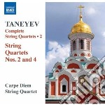 Quartetto per archi n.2, n.4 cd musicale di Taneyev sergey ivani