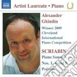Sonata per pianoforte n.1, n.4, n.8; po� cd musicale di Alexandre Scriabin