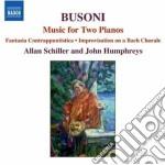 Opere per 2 pianoforti cd musicale di Ferruccio Busoni