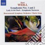 Sinfonia n.1, n.2, lady in the dark, not cd musicale di Kurt Weill