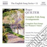 English songs arrangements, part-songs p cd musicale di Roger Quilter