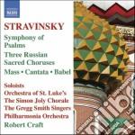 Sinfonia di salmi, messa, cantata, babel cd musicale di Igor Stravinsky