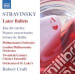 Stravinsky Igor - Jau De Cartes, Danses Concertantes, Scenes De Ballet, Variations, Capriccio cd musicale di Igor Stravinsky
