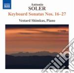 Sonate per tastiera, nn.16-27 cd musicale di Antonio Soler