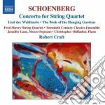 Conc.for string quartet cd musicale di SCHOENBERG