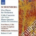 Concerto per violoncello, 5 pezzi op.16 cd musicale di Arnold Schoenberg