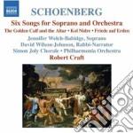 6 lieder per soprano e orchestra, kol ni cd musicale di Arnold Schoenberg