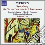 Sinfonia op.21, 6 pezzi op.6, concerto p cd musicale di Anton Webern