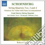 Schoenberg Arnold - Quartetti Per Archi Nn.3 E 4, Fantasia Per Violino E Pianoforte cd musicale di Arnold Schoenberg