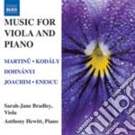 Musica per viola e pianoforte cd musicale di Miscellanee