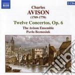 Concerti op.6 (nn.1-12) cd musicale di Charles Avison