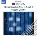 Quartetto per archi n.1, n.3 op.112, n.4 cd musicale di Edmund Rubbra