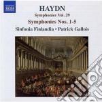 Sinfonia n.1, n.2, n.3, n.4, n.5 cd musicale di Haydn franz joseph