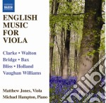 English music for viola and piano (music cd musicale di Miscellanee