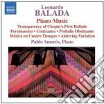 Opere per pianoforte (integrale) cd musicale di Leonardo Balada