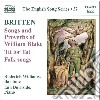 Britten Benjamin - Songs And Proverbs Of William Blake, Tit For Tat, Folk Song Arrangements cd