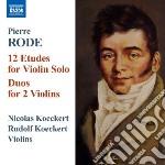 12 studi per violino solo, duo per 2 vio cd musicale di Pierre Rode