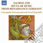 Musica Sacra E Profana Dal Rinascimento Tedesco cd musicale