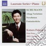 Variazioni abegg op.1, novelletten op.2, cd musicale di Robert Schumann