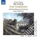 4 sinfonie (four symphonies) cd musicale di Dussek franz xaver