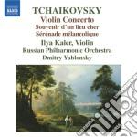 Concerto per violino, s????r????nade malinconi cd musicale di Ciaikovski pyotr il'
