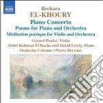 El-khoury Bechara - Concerto Per Piano cd musicale di Bechara El-khoury