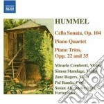 Quartetto con pianoforte op.post, trii c cd musicale di Hummel johann nepomu
