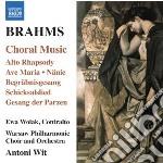 Choral music cd musicale di Johannes Brahms