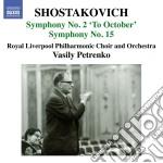 Sinfonia n.2 op.14 �a ottobre+, n.15 op. cd musicale di Dmitri Sciostakovic