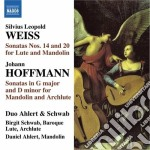 Sonata per liuto e mandolino n.14 e n.20 cd musicale di Weiss silvius leopol