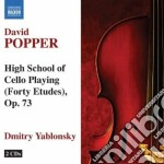 High school of cello playing cd musicale di David Popper