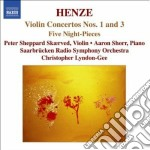 Concerto per violino n.1, n.3, 5 night-p cd musicale di Henze hans werner