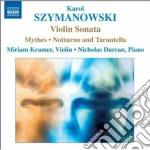 Sonata per violino op.9, cd musicale di Karol Szymanowski