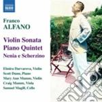 Sonata per violino, quintetto con pianof cd musicale di Franco Alfano