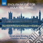 English music for viola and piano cd musicale di Miscellanee