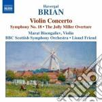 Concerto per violino, sinfonia n.18, the cd musicale di Havergal Brian