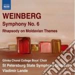 Sinfonia n.6, rhapsody on moldavian them cd musicale di Mieczyslaw Weinberg
