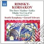 Suites: la fanciulla di neve, mlada, il cd musicale di Rimsky korsakov niko