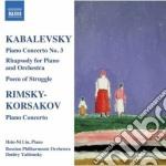 Concerto per piano n.3 op.50, rapsodia s cd musicale di Kabalevsky dmitry bo