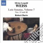Sonate per liuto (integrale) vol.7: sona cd musicale di Weiss silvius leopol